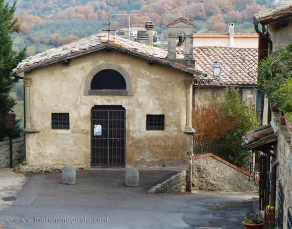 Oratorio di San Rocco in Seggiano Maremma Tuscany.