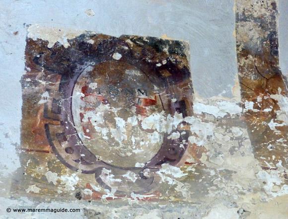 Orsini palace fresco Sorano Italy