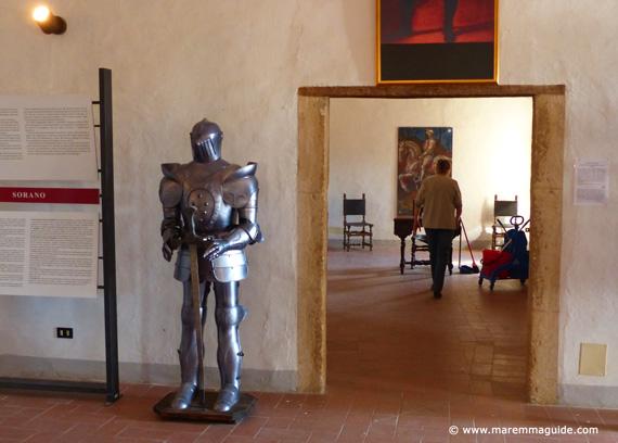 The Orsini Fortress museum Sorano Tuscany Italy
