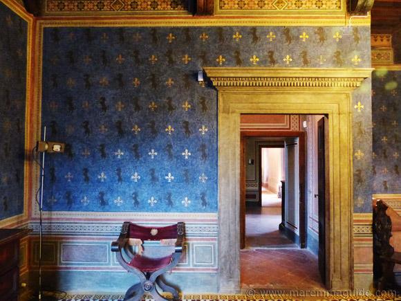 Palazzo Collacchioni in Capalbio: the sala Puccini