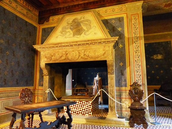Palazzo Collacchioni in Capalbio Italy: the Puccini room.