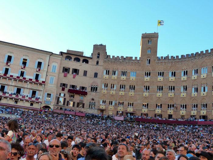 Palio day Piazza del Campo Siena.
