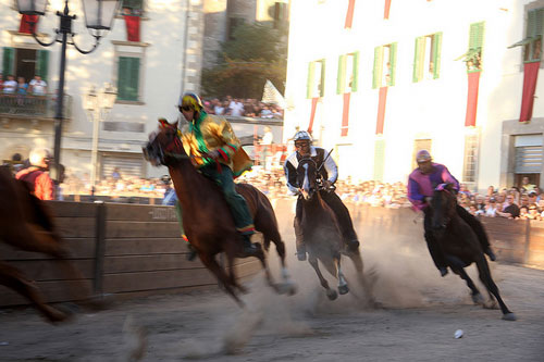 Palios in Maremma: the Palio di Castel del Piano - a horse race