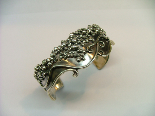 Handmade Sterling and solid silver Italian bracelet from Maremma Italy