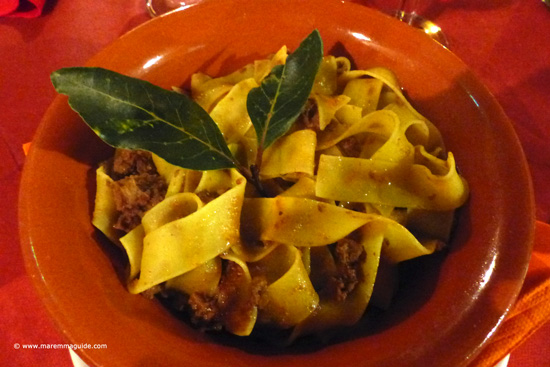 Pappardelle al Cinghiale - Pasta with wild boar sauce