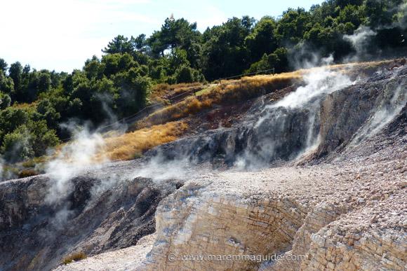 The geothermic park - Le Biancane - at Monterotondo Marittimo Maremma Tuscany