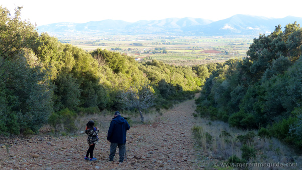 Footpath to the Pievaccia in the Parco di Montioni
