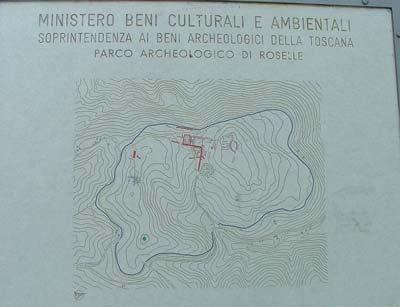 Parco Arceheologico di Roselle diagram