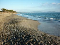 Perelli beach, Piombino in the Parco Naturale della Sterpaia Maremma Tuscany Italy