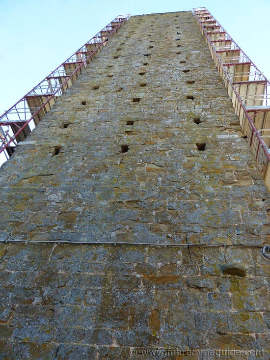 Tallest medieval tower in Maremma Tuscany: Torre di Pereta