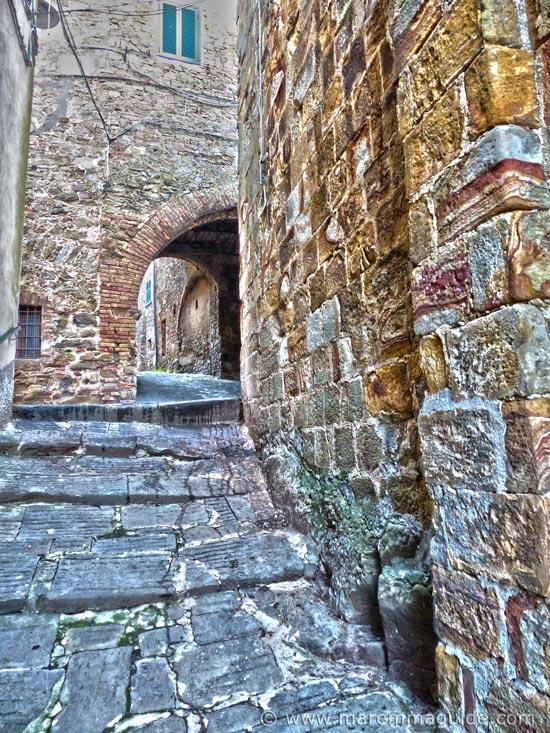 Medieval Tuscany street in Pereta Maremma