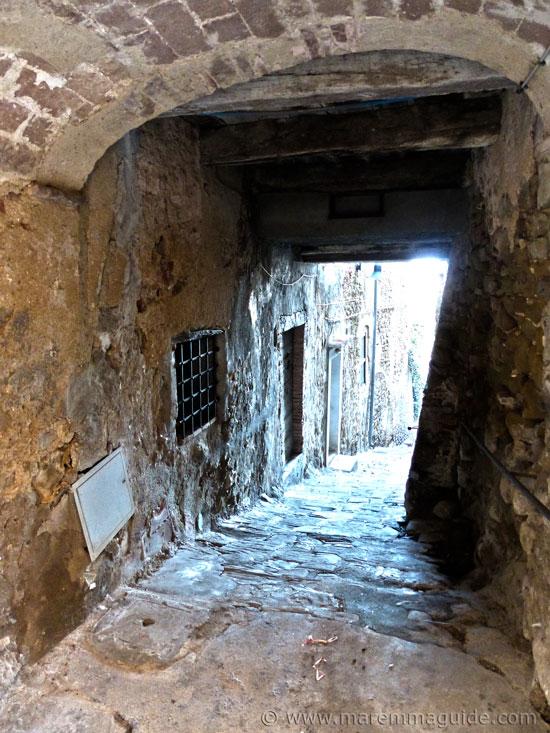 Medieval street in Pereta Tuscany
