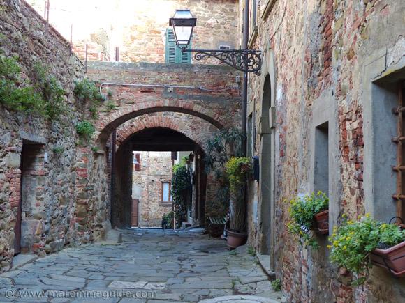 The Aldobrandesca castle in Pereta Tuscany