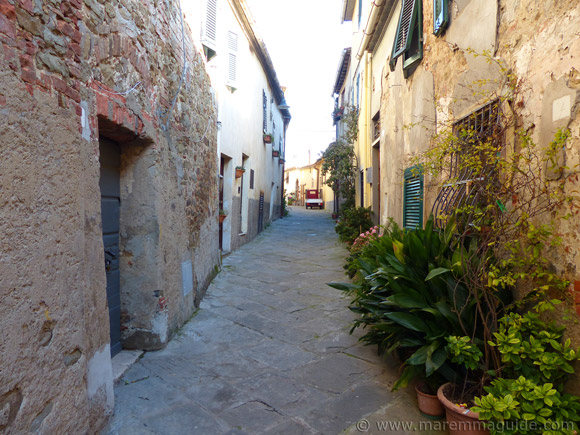 Medieval street in Pereta Tuscany.
