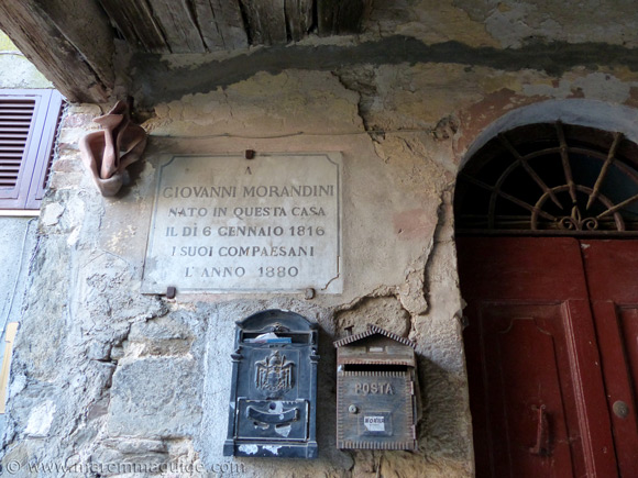 Giovanni Morandini plaque in Pereta