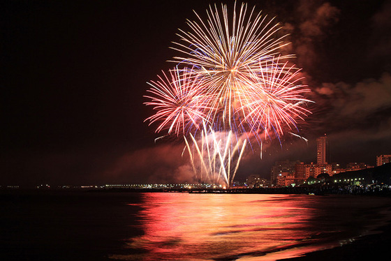 Photo of Tuscany: nightime at Follonica with fireworks