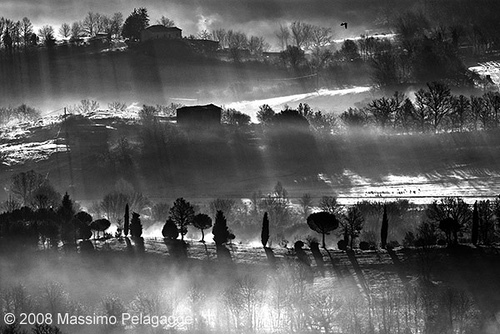 A stunning black and white Maremman sunrise