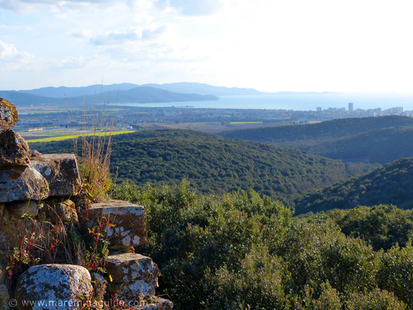 Pievaccia, Montioni: view to the Golfo di Follonica