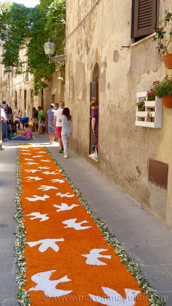 Pitigliano Italy in flower.
