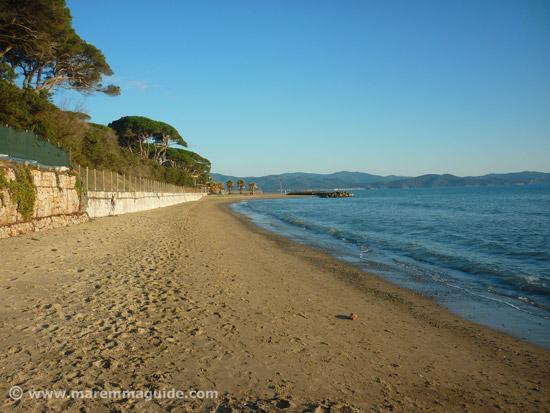 Il Boschetto or Ponenete beach Follonica Maremma Tuscany Italy