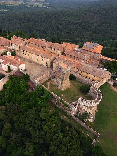 Populonia Tuscany: aerial view