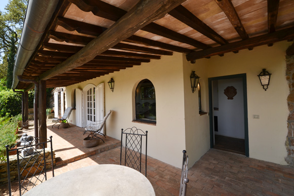 Porto Ercole property for sale: terrace and private garden with stunning sea view.