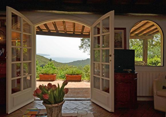 View from the Porto Ercole villa for sale.