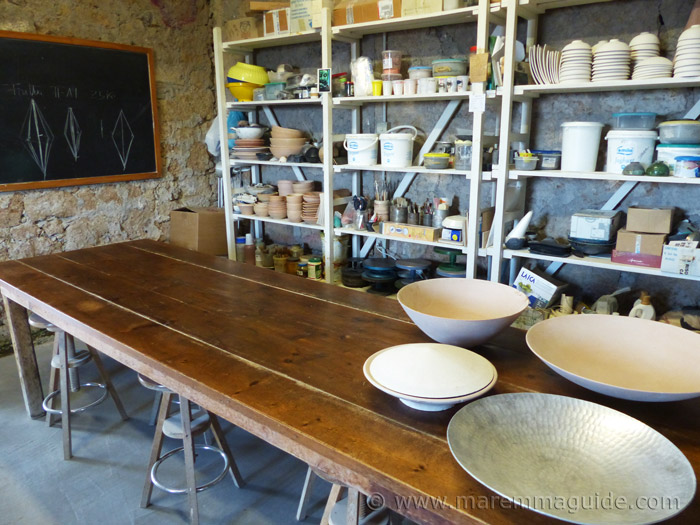 Ceramics holiday workshop in Tuscany.