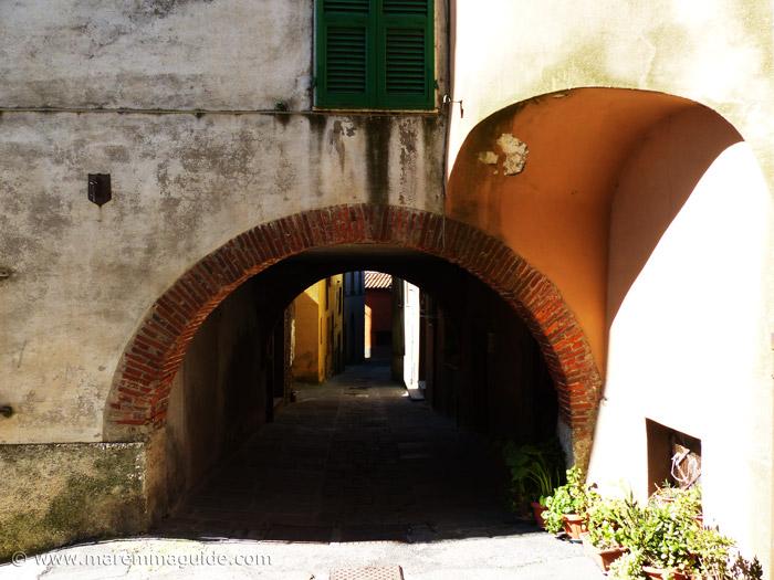 Medieval street in Prata