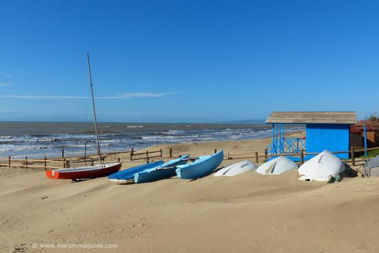 Pratoranieri beach Follonica in February
