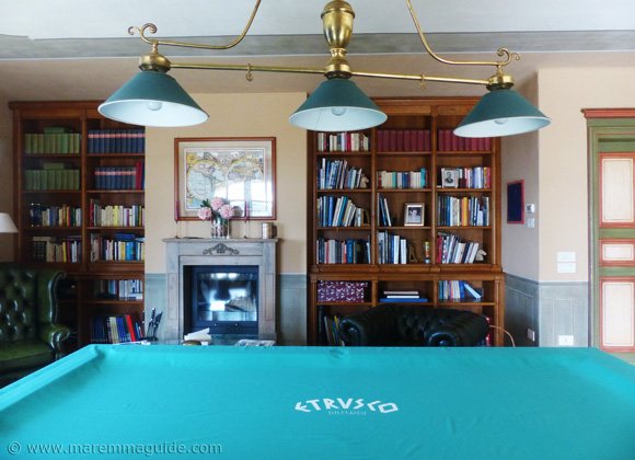 Billiard room in one of the best private villas in Tuscany