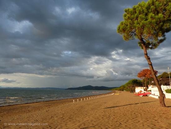 Punta Ala beach Tuscany in October