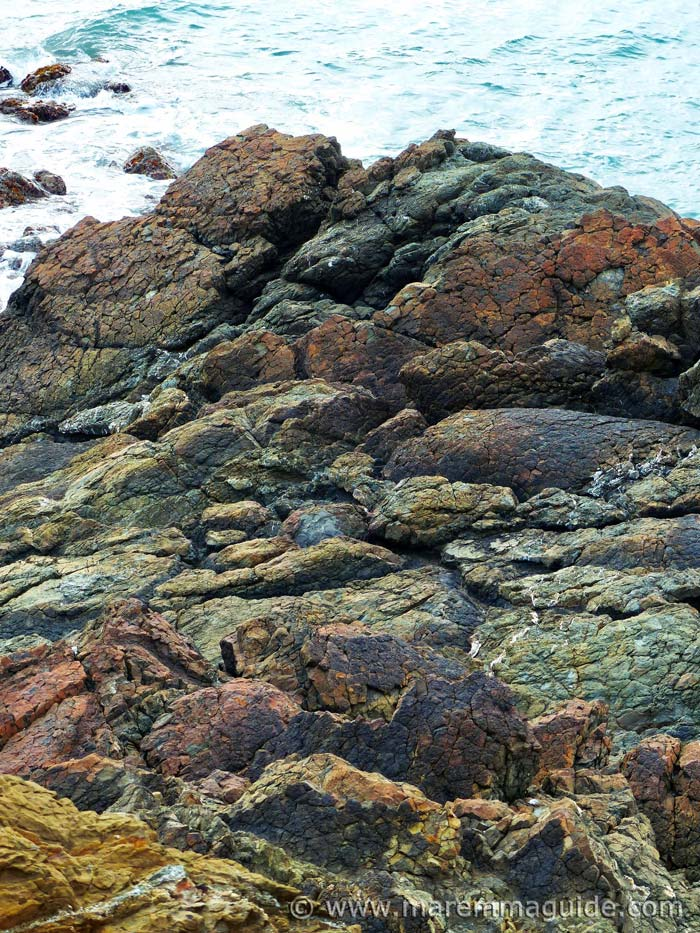 Pillow lavas from the Piedmont-Ligurian ocean at Punta Falcone Tuscany Italy.