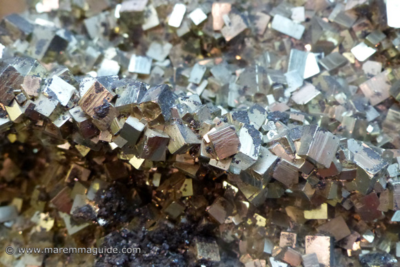 Pyrite mineral in Maremma Tuscany