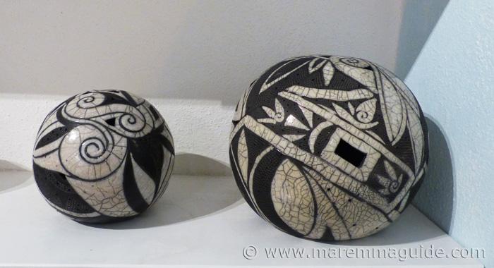 Raku ceramics.