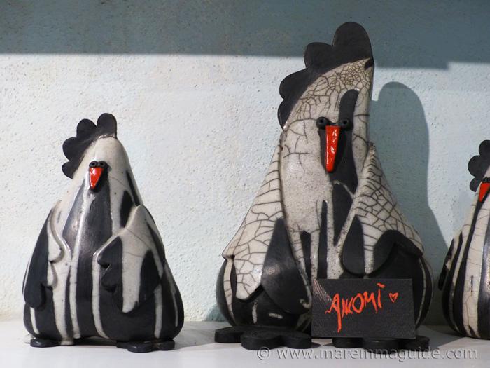 Raku sculptures.