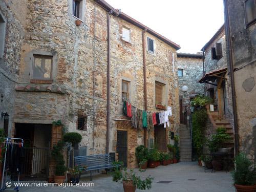 Inside Ravi castle in Tuscany Maremma