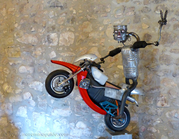 Recycled metal art biker