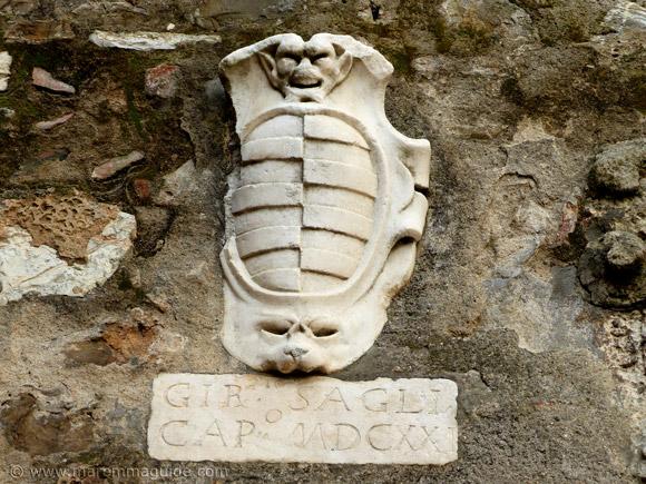 Renaissance coat of arms in Campiglia Marittima Tuscany Italy