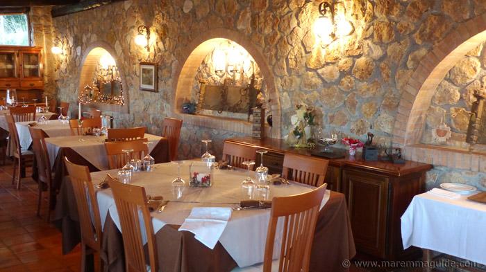 La Fontanina restaurant Maremma Tuscany