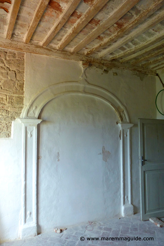 Restoration property Tuscany castled hill town in Maremma
