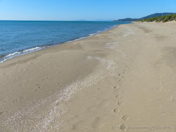 Riva del Sole beach Castiglione della Pescaia Italy in October