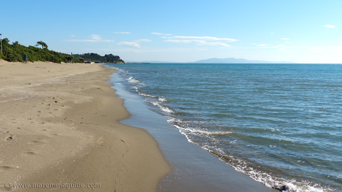 Rive del Sole and Capezzolo beaches in Maremma.