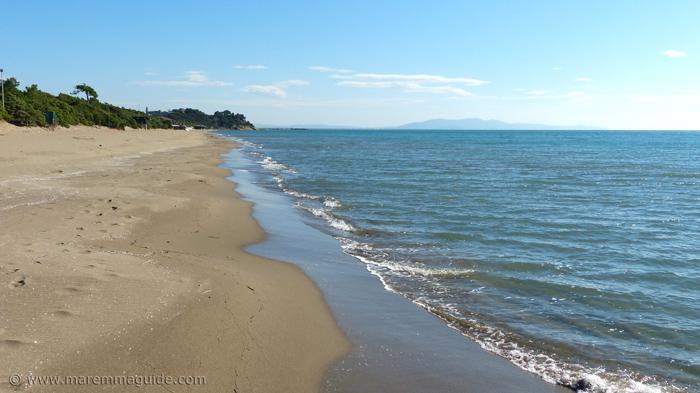 Rive del Sole and Capezzolo beaches in Maremma.