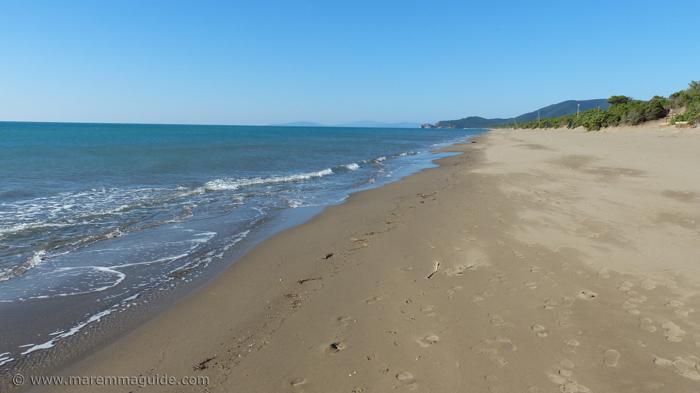 Riva del Sole beach Tuscany in October.