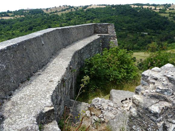 Rocca Aldobrandesca fortress wall.