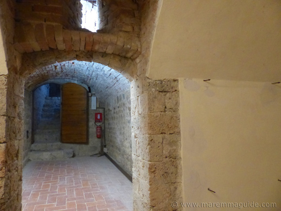 Underground in the Rocca Aldobrandesca in Talamone