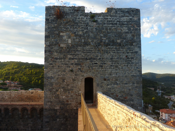 The north lookout tower of the Rocca Aldobrandesca in Talamone