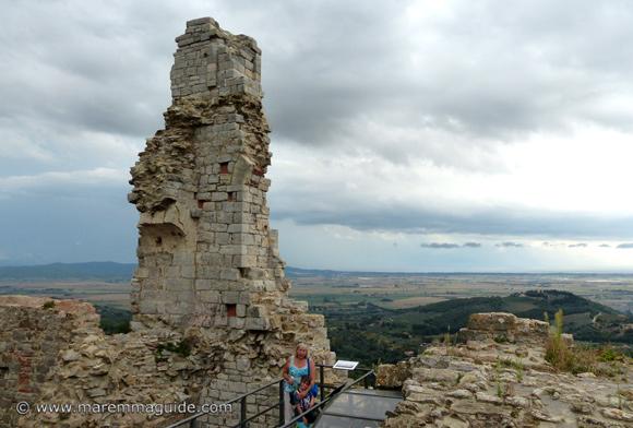 The Rocca di Campiglia Marittima castle Maremma Tuscany Italy