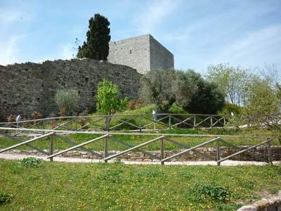 The medieval castle keep of La Rocca di Campiglia Marittima in Maremma Italy